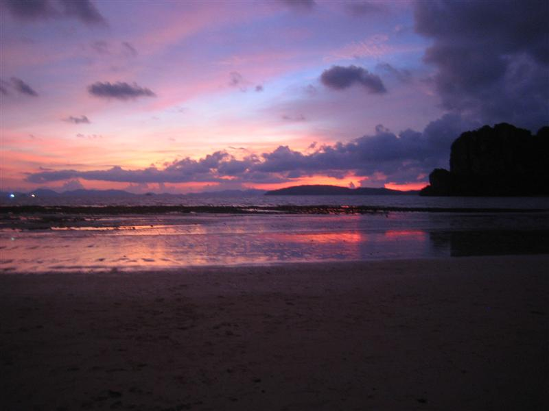 Sunset in Railay Beach