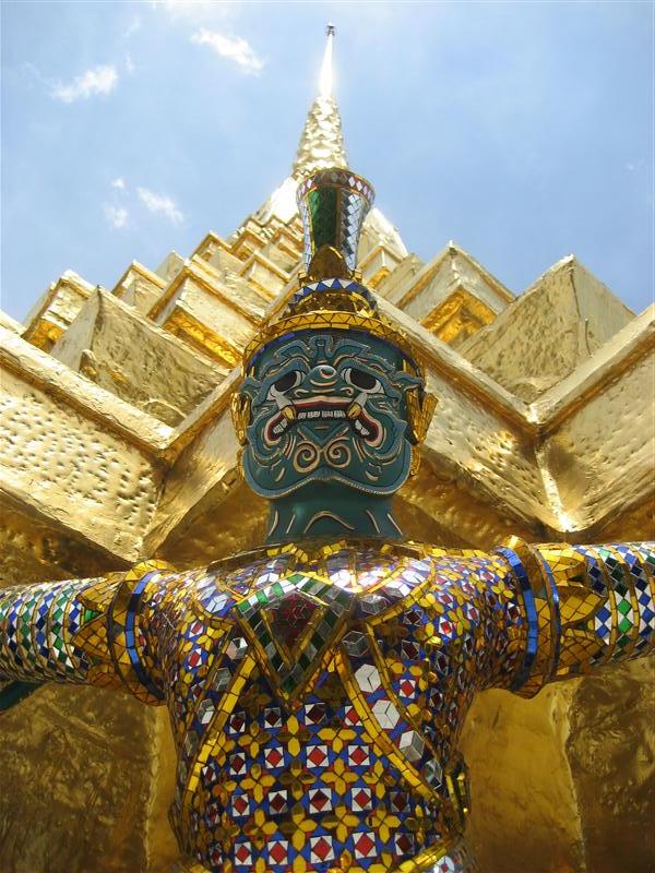 Wat Phra Kaew is full of gilded, golden figures
