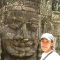 One of the many faces at Bayon